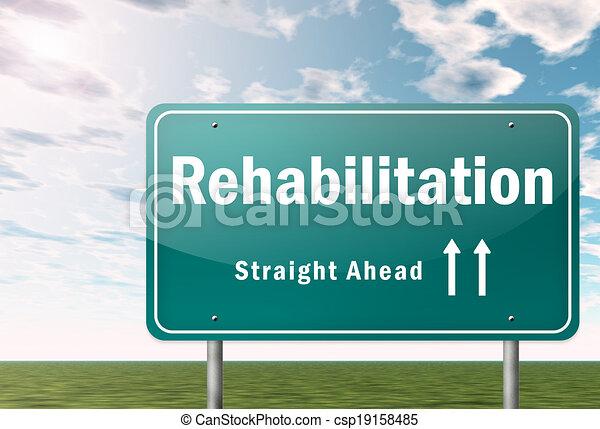 Highway Signpost Rehabilitation - csp19158485