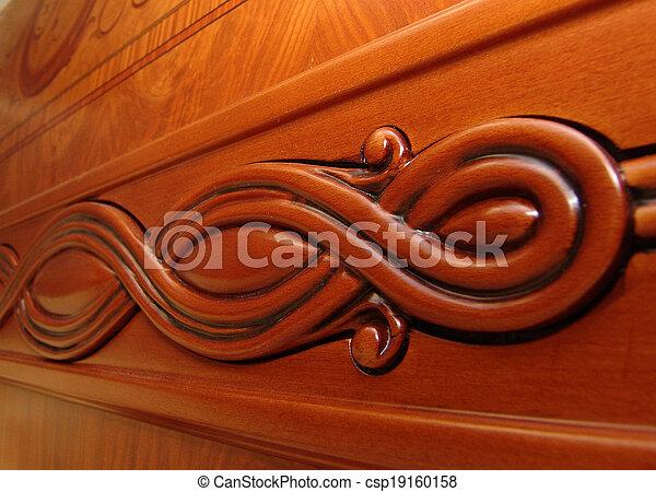 wooden home furniture; decoration elements