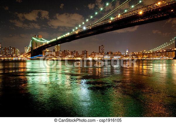 Brooklyn Bridge by twilight - csp1916105