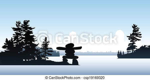 Inukshuk Point - csp19169320