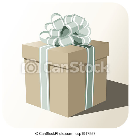 Gift box whit big ribbon - csp1917857