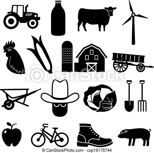 Farming and Agriculture Icons - csp19178744