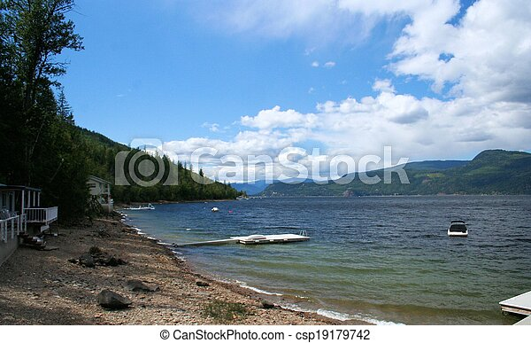 The beach at Shuswap Lake - csp19179742