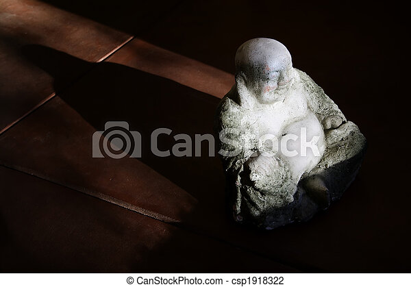 Buddha Statue in Afternoon Light - csp1918322