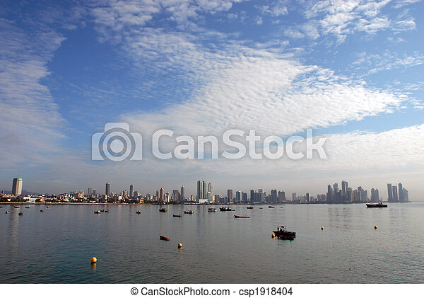 Modern Panama city coastline - csp1918404