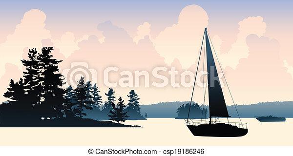 Sailboat Lake - csp19186246