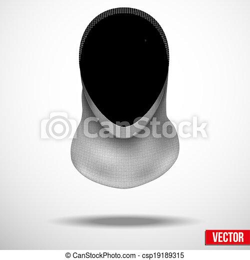 Vector Clip Art of Fencing mask vector background ...