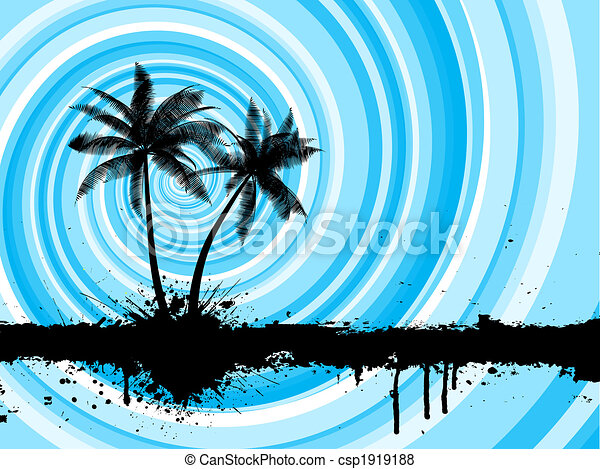 grunge palm trees - csp1919188