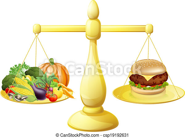 Eat Healthy Food Drawing Healthy Eating Diet Decision