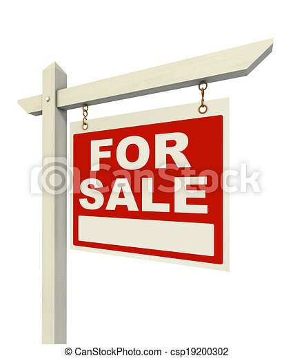 for sale real estate sign - csp19200302