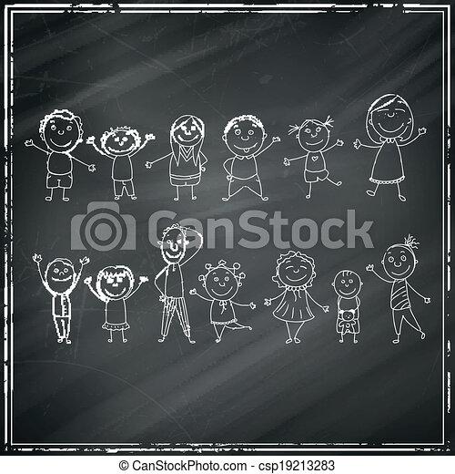 Vecteur de tableau noir vecteur enfants vecteur illustration de csp19213283 - Tableau noir enfant ...