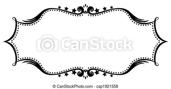 Retro frame silhouette - csp1921558
