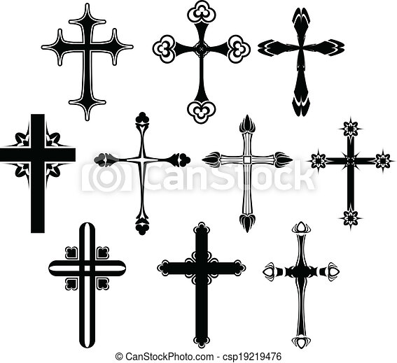 Cross symbol set - csp19219476