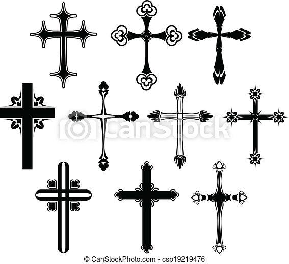 Cross symbol set - csp19219476
