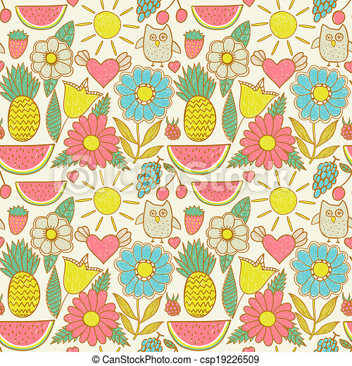 vector clipart of abstract floral background summer theme