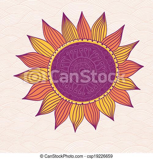 Clipart Vector of Stylized sun, vector csp19226659 ...