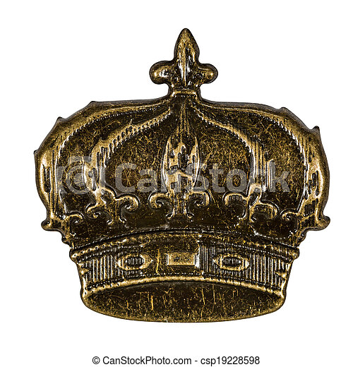 Crown, element for scrapbooking, isolated on a white background, with - csp19228598