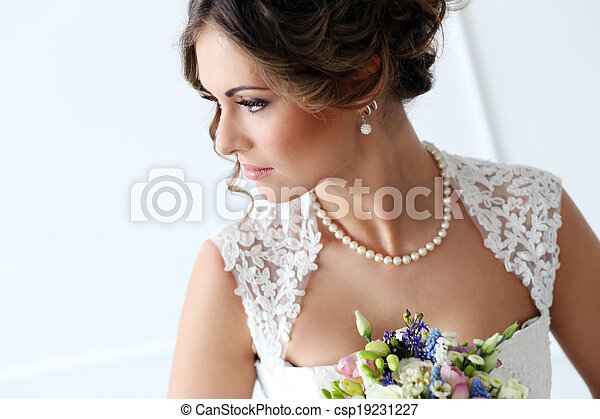 Wedding. Beautiful bride - csp19231227