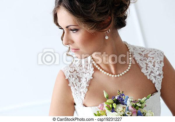 Wedding. Beautiful bride - csp19231227