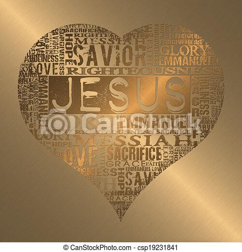 I love Jesus  - csp19231841