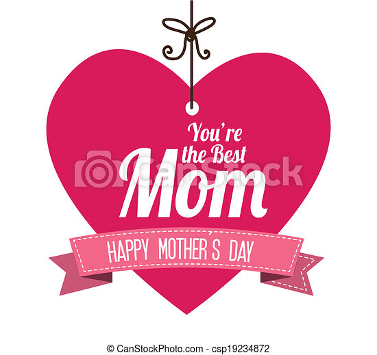 Mothers day design - csp19234872
