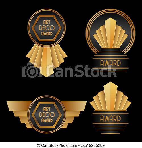 Art Deco Awards - csp19235289