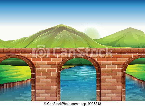 A bridge across the mountains - csp19235348