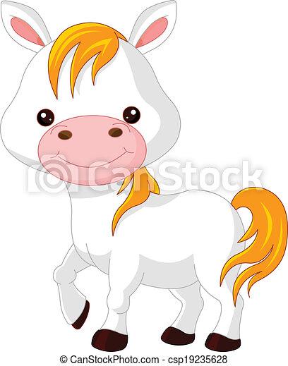 Farm animals. Horse - csp19235628