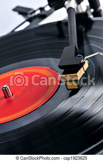 Record on turntable - csp1923625