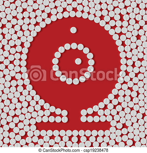 pills concept, webcam, camera - csp19238478