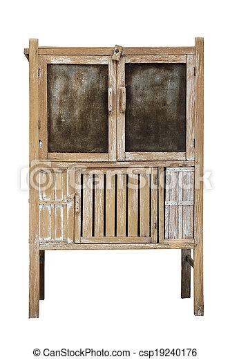image de vieux bois garde manger blanc fond csp19240176 recherchez des photographies des. Black Bedroom Furniture Sets. Home Design Ideas
