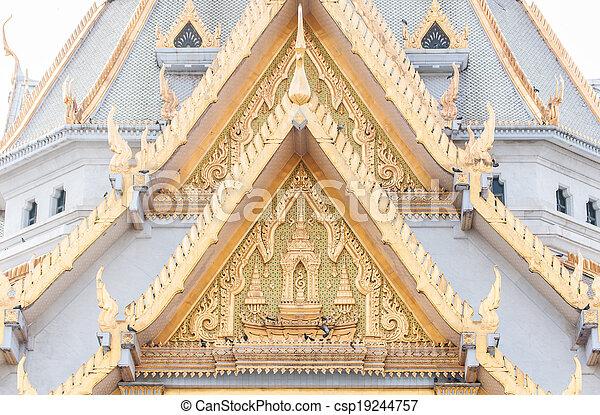 Roof detail of Wat Sothon - csp19244757