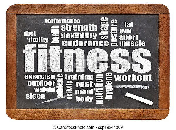 ord, moln, fitness - csp19244809