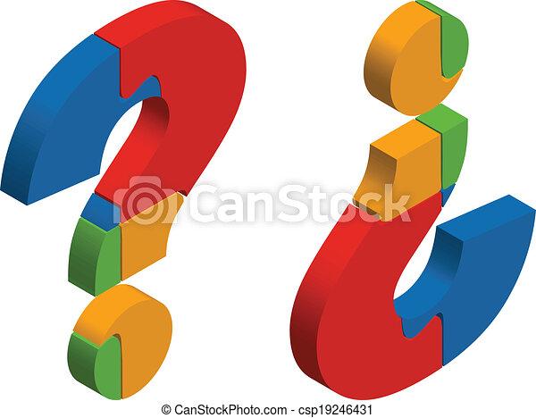 Question mark puzzle - csp19246431