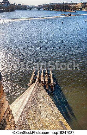 Prague, view of Bridges on Vltava - csp19247037