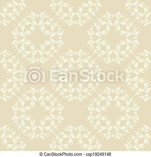 vecteur eps de neutre beige plante papier peint neutre floral csp19249148 recherchez. Black Bedroom Furniture Sets. Home Design Ideas