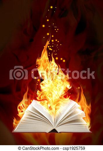 Book of magic fire  - csp1925759