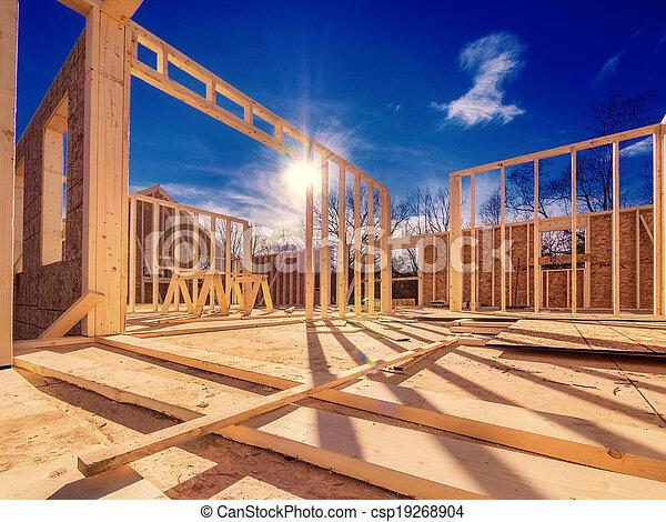 färsk, konstruktion, Hus - csp19268904