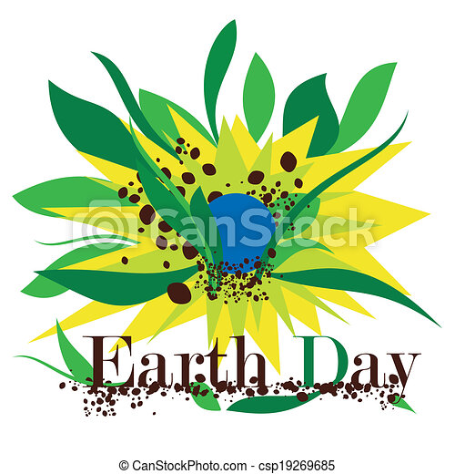 Illustration of Earth Day - csp19269685