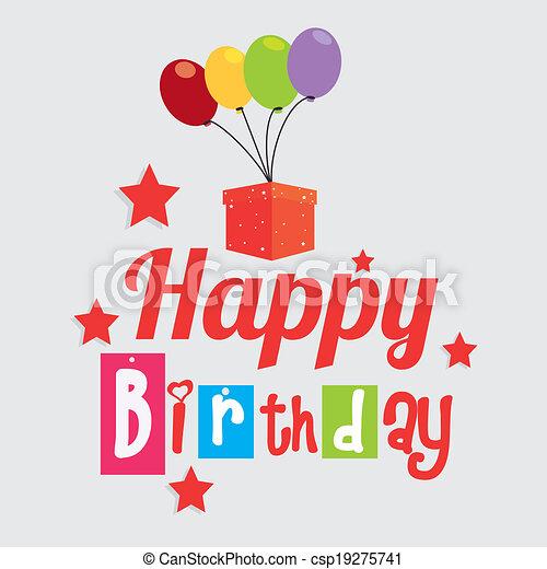 Happy birthday design - csp19275741