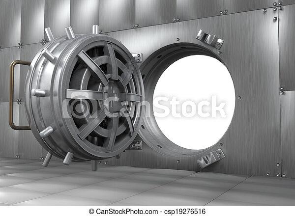 Door Opening Drawing Open Bank Vault Door