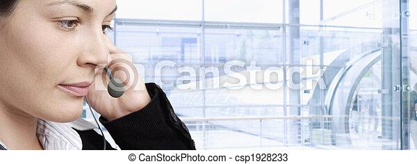 Happy customer service representative - csp1928233