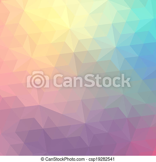 Retro pattern of geometric shapes. Colorful mosaic banner. Geometric hipster retro background with place for your text. Retro triangle background - csp19282541