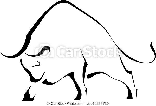 Vectores de salvaje negro fuerte silueta toro black - Dessin de toro ...