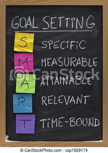 smart goal setting concept - csp1929174