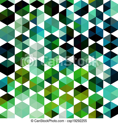 Triangles pattern of geometric shapes. Colorful mosaic backdrop. Geometric hipster retro background, place your text on the top of it. Retro triangle background. Backdrop - csp19292255