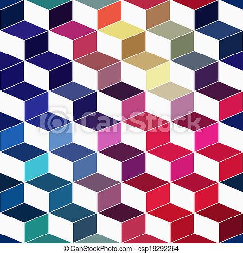 Stock Illustration of Seamless geometric pattern with geometric ...