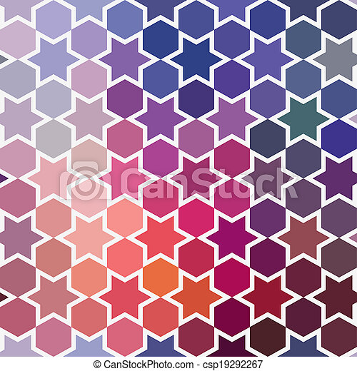 Triangles pattern of geometric shapes. Colorful mosaic backdrop. Geometric hipster retro background, place your text on the top of it. Retro triangle background. Backdrop - csp19292267