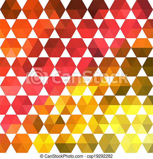 Triangles pattern of geometric shapes. Colorful mosaic backdrop. Geometric hipster retro background, place your text on the top of it. Retro triangle background. Backdrop - csp19292282