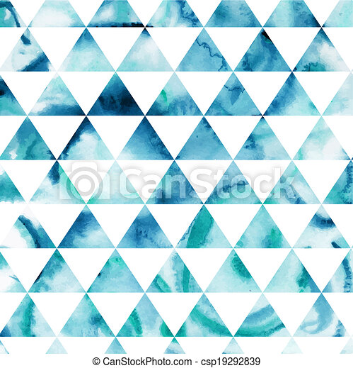 Triangles pattern of geometric shapes. Colorful mosaic backdrop. Geometric hipster retro background, place your text on the top of it. Retro triangle background. Backdrop - csp19292839